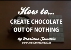 How to create chocolate out of nothing - Dr Tai Smith